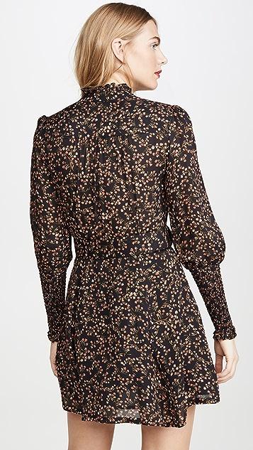 Nicholas High Neck Ruffle Mini Dress