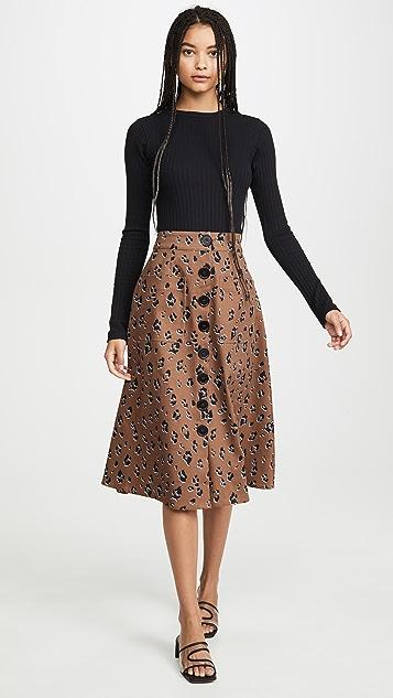 Nicholas Button Front Skirt