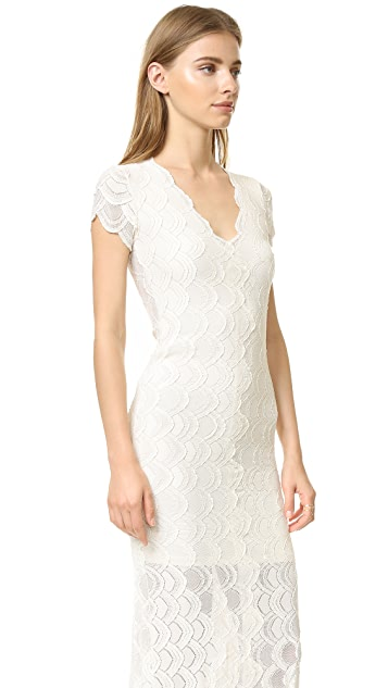 Nightcap x Carisa Rene Victorian Lace Cap Sleeve Dress
