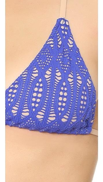 Nightcap x Carisa Rene Spiral Lace Bikini Top