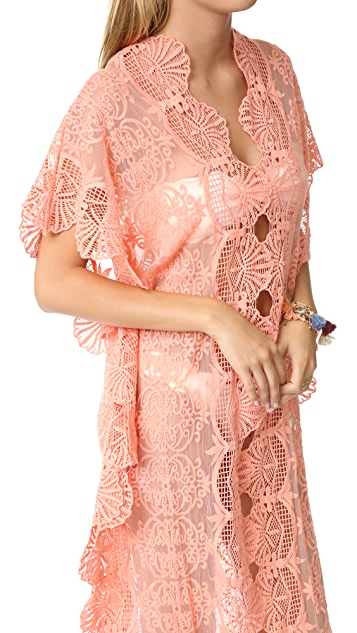 Nightcap x Carisa Rene Seashell Lace Caftan