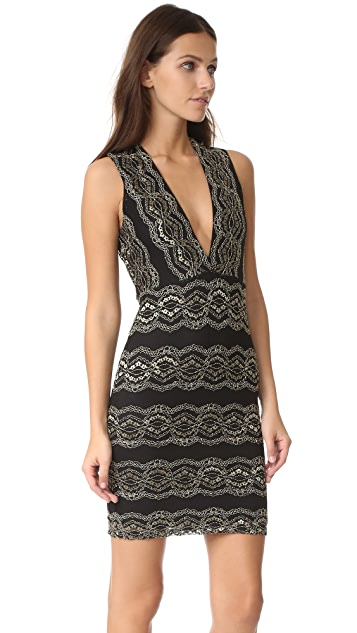 Nightcap x Carisa Rene Moroccan Lace Mini Dress