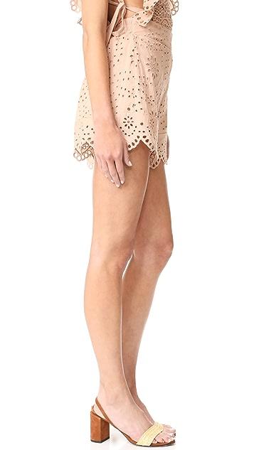 Nightcap x Carisa Rene Eyelet Ruffle Shorts