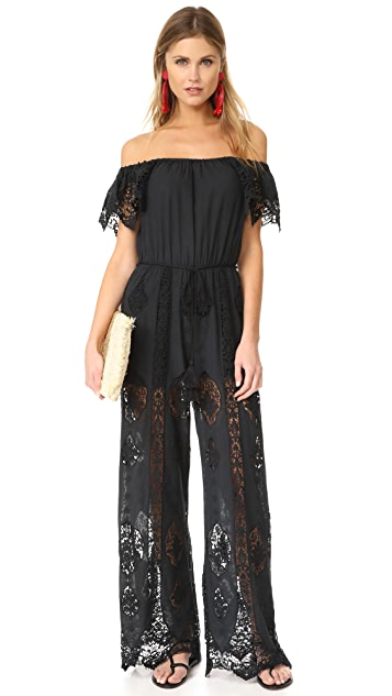 Nightcap x Carisa Rene Playa Lace Jumpsuit