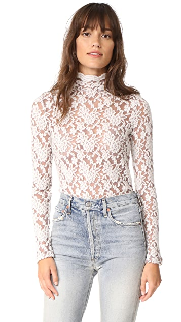 Nightcap x Carisa Rene Sweater Lace Collar Top
