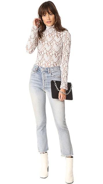 Nightcap x Carisa Rene Sweater Lace Collar Top