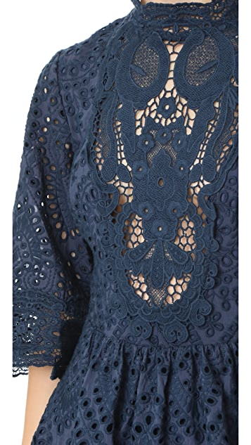 Nightcap x Carisa Rene Victorian Embroidered Blouse