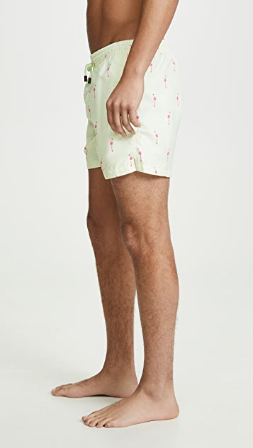 30a16d3df7 NIKBEN Flamingo Swim Trunks | EAST DANE