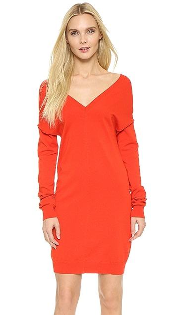 Nina Ricci V Neck Sweater Dress