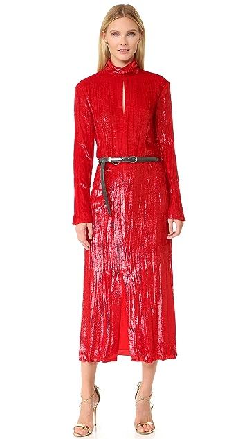 Nina Ricci Long Sleeve Turtleneck Dress
