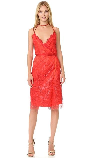 Nina Ricci Sleeveless Coated Lace Dress