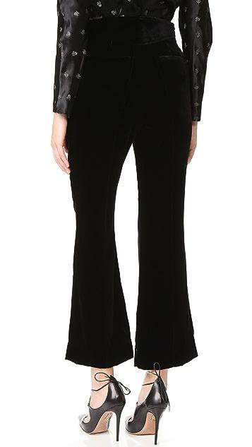 Nina Ricci Velvet Flared Pants