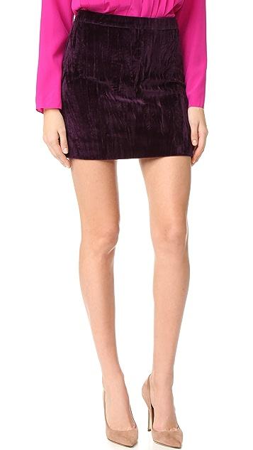 Nina Ricci Velvet Miniskirt