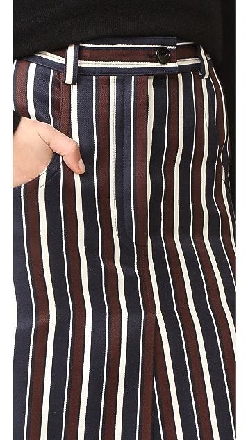 Nina Ricci Striped Skirt