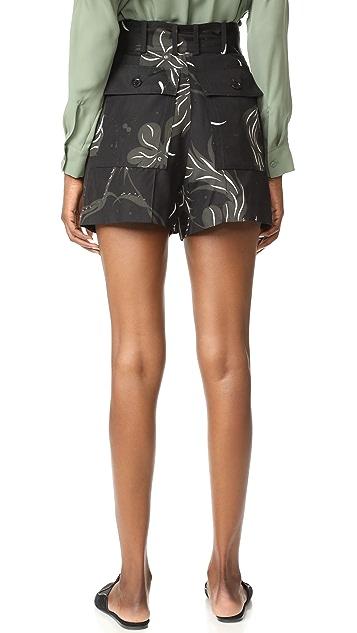 Nina Ricci Bird Print Shorts