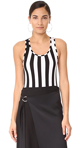 Nina Ricci Striped Bodysuit