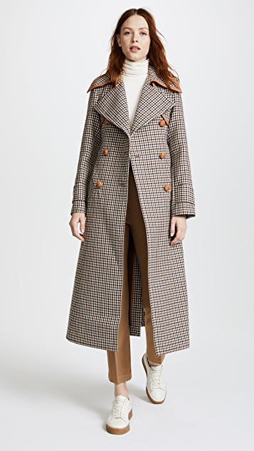 Nina Ricci Double Face Check Coat