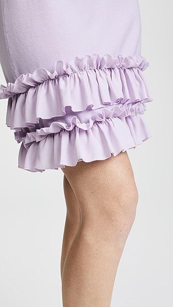 Nina Ricci Knit Dress with Ruffles