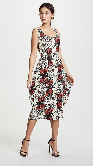 Nina Ricci Flowers Printed Waffle Dress