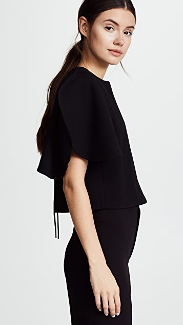 Nina Ricci Stretch Wool Crepe Short Jacket