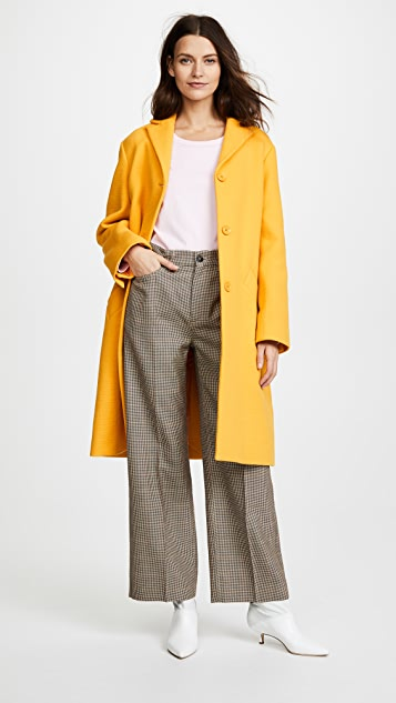 Nina Ricci Sunflower Honeycomb Coat