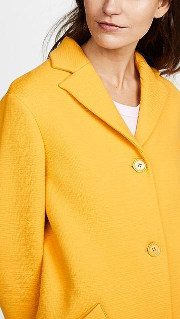 Nina Ricci Sunflower Honeycomb Coat