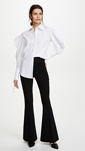 Nina Ricci Structured Sleeve Cotton Poplin Shirt