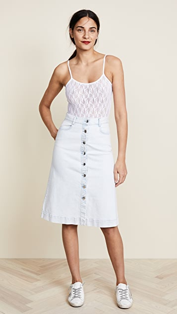 Nina Ricci Lace Spaghetti Strap Bodysuit
