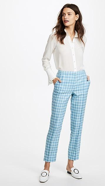 Nina Ricci Classic Check Trousers