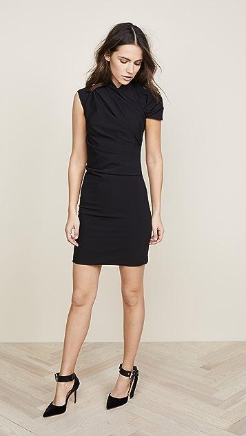 Nina Ricci Mini Dress with Asymmetrical Shoulder