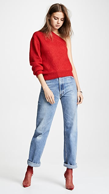 Nina Ricci Mohair One Sleeve Sweater