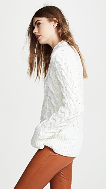 Nina Ricci Cable Knit Sweater