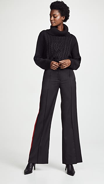 Nina Ricci Contrast Band Trousers