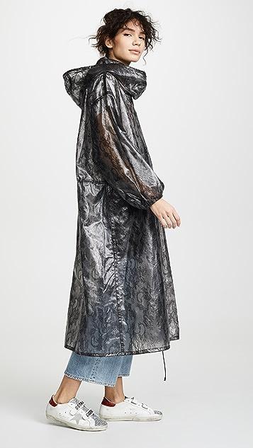 Nina Ricci Laminated Lace Parka