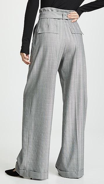 Nina Ricci Tie Waist Pinstripe Pants