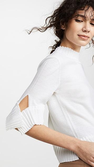 Nina Ricci Pleated Knit Sweater