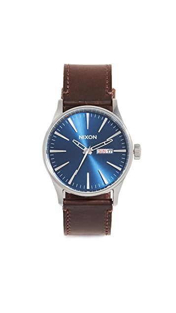 Nixon The Sentry Leather Watch