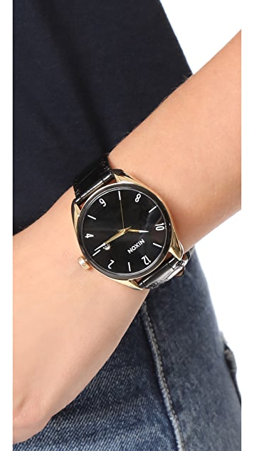 Nixon The Bullet Leather Watch