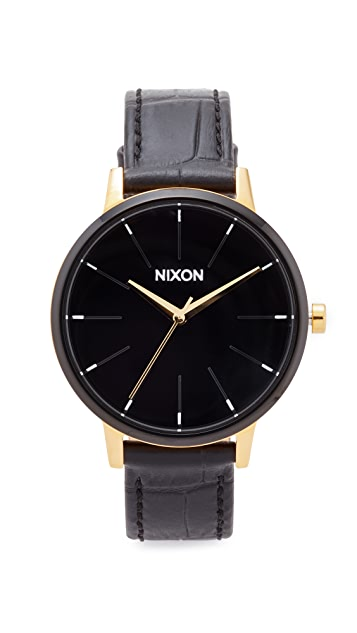 Nixon The Kensington Leather Band Watch