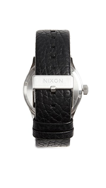 Nixon Sentry Leather Watch, 42mm