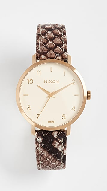 Nixon Arrow Leather Watch, 34mm