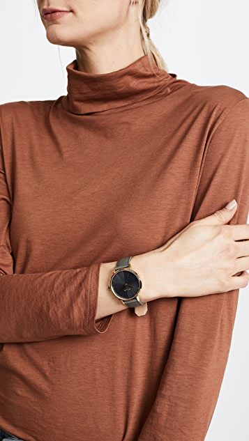 Nixon Kensington Leather Watch, 33mm
