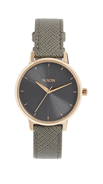 Nixon Kensington Leather Watch, 33mm