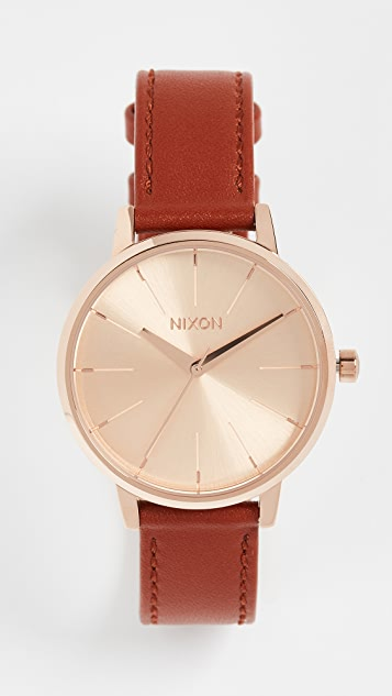 Nixon Kensington Leather Watch Pack, 33mm