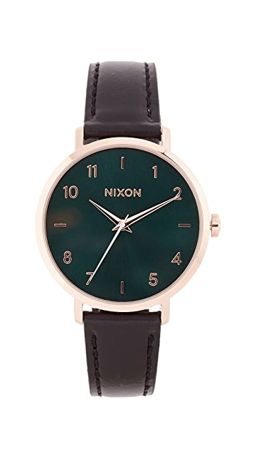 Nixon Arrow Leather Watch, 37mm