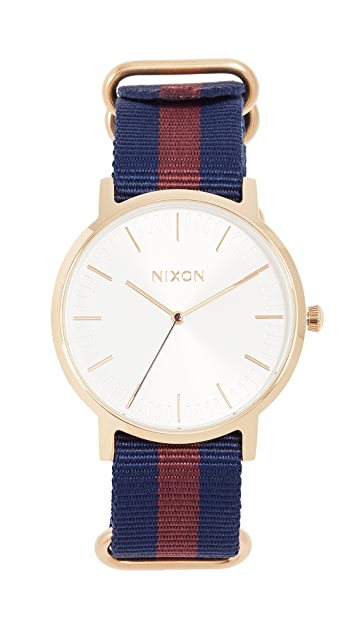Nixon Porter Nylon Watch, 40mm