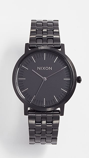Nixon Porter Gunmetal Watch, 35mm