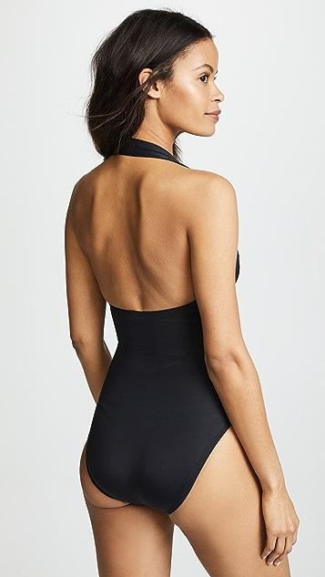 Norma Kamali Halter Mio One Piece Swimsuit
