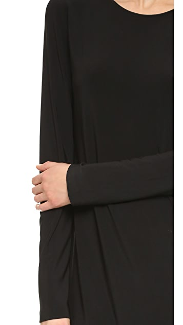 Norma Kamali Kamali Kulture Go Crew Neck Dress