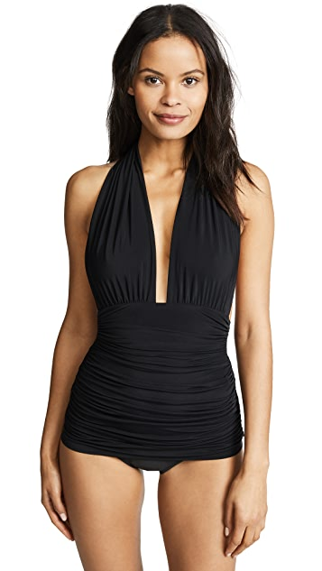 Norma Kamali Halter Bill Swimsuit